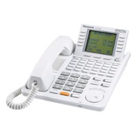 Panasonic KX-T7456 Phone - Digital Super Hybrid System Backlit LCD Display Phone Refurbished One Year Warranty